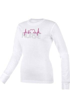 Think Medical Women's EKG Print Underscrub T-Shirt