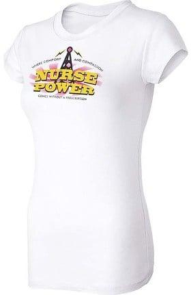 Think Medical Women's Nurse Power Print Underscrub T-Shirt