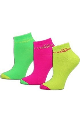 Think Medical Womens 3Pk It's A Bright Day Sock