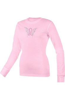Pro Cure Womens Butterfly Ribbon Underscrub