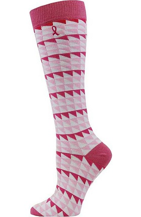 Clearance Pro Cure Womens Emb Pink Ribbon Knee High