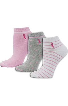 Pro Cure Womens 3Pk Embroidered Ribbon Socks