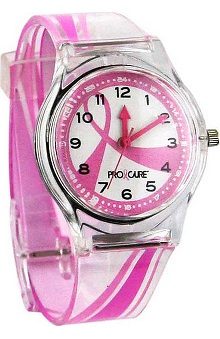 Pro Cure Womens Pink Ribbon Swoosh Watch