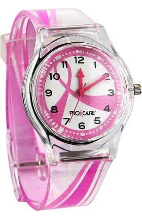 Pro Cure Womens Pink Ribbon Swoosh Watch