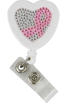 Pro Cure Bling Ribbon Badge Holder Retractable