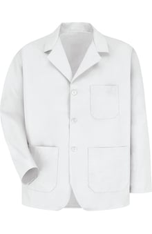 Red Kap Men's 3 Button Counter Solid Lab Coat