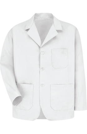 "Red Kap Men's 3 Button Counter 30¾"" Solid Lab Coat"