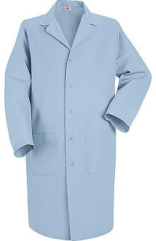 "Red Kap Men's 41½"" Lab Coat with Grippers"