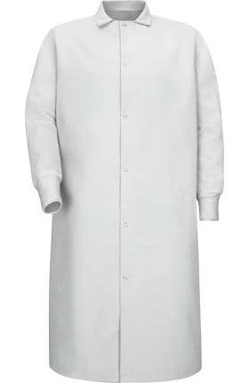 Red Kap Men's Gripper Front Butcher Coat