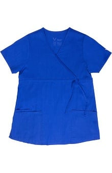 Vestex® Signature Stretch™ Women's Maternity Comfort Mock Wrap Solid Scrub Top
