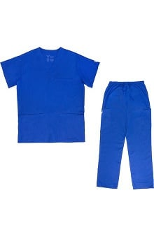 Vestex® Signature Stretch™ Unisex V-Neck 3 Pocket Solid Scrub Top & Unisex Cargo Scrub Pant Set