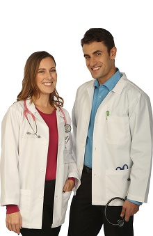 unisex lab coat: My Guardian Protected By Vestex Unisex Short Lab Coat