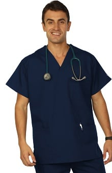 VESTEX® Basics Unisex 3-Pocket V-Neck Solid Scrub Top