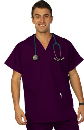 Clearance VESTEX® Basics Unisex 3-Pocket V-Neck Solid Scrub Top