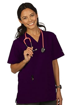 VESTEX® Basics Women's 2-Pocket V-Neck Solid Scrub Top