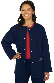 Clearance VESTEX® Basics Unisex Jewel Neck Scrub Jacket