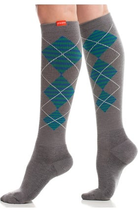 VIM & VIGR Women's 15-20 mmHg Compression Wool Argyle Print Sock