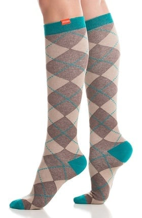 VIM & VIGR Women's 15-20 mmHg Compression Cotton Argyle Print Sock