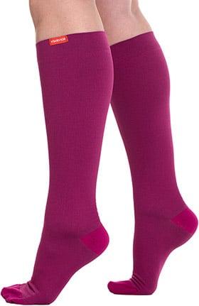 VIM & VIGR Women's 15-20 mmHg Compression Nylon Moisture Wick Sock