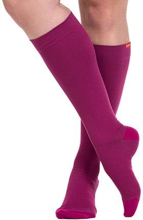 VIM & VIGR Women's 15-20 mmHg Compression Nylon Moisture Wick Sock - Wide Calf