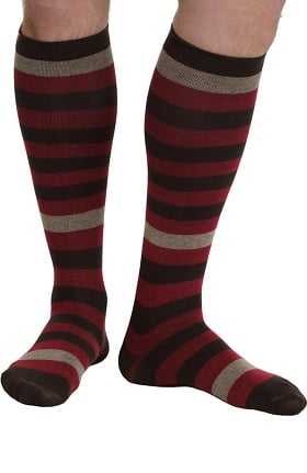 VIM & VIGR Men's 15-20 mmHg Compression Cotton Stripe Print Sock