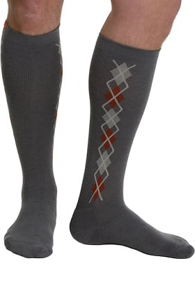 VIM & VIGR Men's 15-20 mmHg Compression Wool Argyle Print Sock
