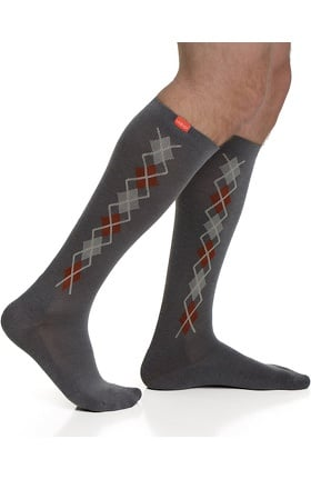VIM & VIGR Men's 15-20 mmHg Compression Wool Argyle Print Sock - Wide Calf