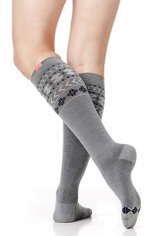 VIM & VIGR Women's 15-20 mmHg Compression Wool Geometric Print Sock