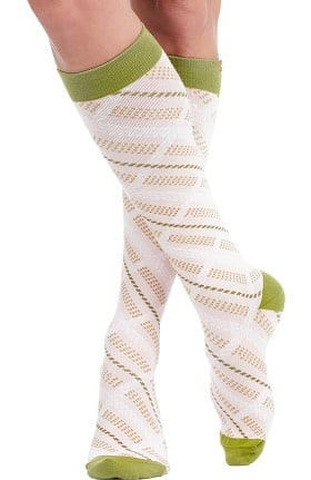 VIM & VIGR Women's 15-20 mmHg Compression Cotton Plaid Print Sock