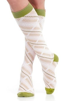 VIM & VIGR Women's 15-20 mmHg Compression Cotton Plaid Print Sock - Wide Calf