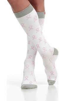 VIM & VIGR Women's 15-20 mmHg Compression Cotton BCA Print Sock - Wide Calf