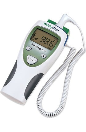 Welch Allyn 01690-400 SureTemp Plus 690 Wall-Mount Electronic Thermometer with Oral Probe & Well