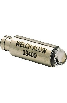 Welch Allyn Halogen Lamp, Model 03400, For 2.5V Illuminators And Pocketscope Otoscopes