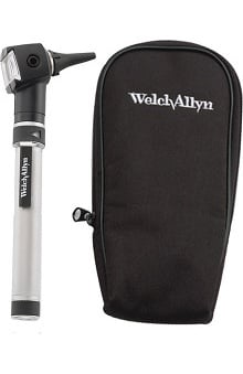 Welch Allyn Otoscope with Handle, Rechargeable Battery & Soft Case