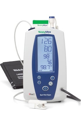 Welch Allyn 42NTB Spot Vital Signs with SureTemp & Nellcor Device