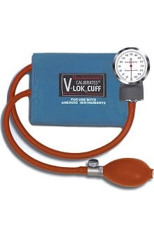 W.A. Baum Baumanometer Non-Latex Pocket Aneroid with Thigh Calibrated V-Lok ( No Case )
