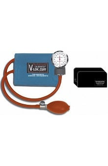 W.A. Baum Baumanometer Non-Latex Pocket Aneroid with Large Arm Calibrated V-Lok & Case