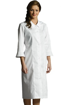 Clearance White Cross Women's 3/4 Bell Sleeve Scrub Dress