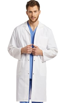 "White Cross Unisex Snap Button 42"" Lab Coat"