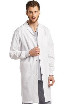"White Cross Unisex Patch Pocket 42"" Lab Coat"