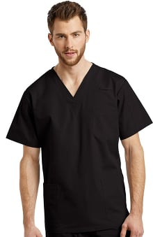 White Cross Unisex V-Neck Solid Scrub Top