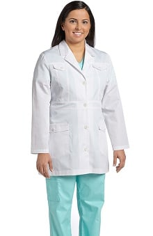 White Cross Women's Lab Coat with Back Detail