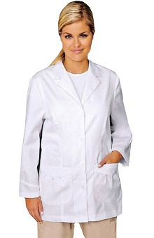 "labcoats: White Cross Women's 31"" Elastic Tab Detail Lab Coat"