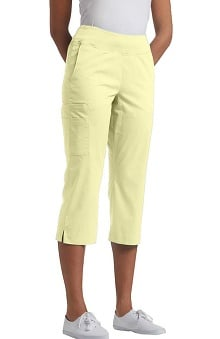 Clearance White Cross Allure Women's Yoga Waist Band Capri Scrub Pant