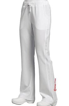 petite: Marvella by White Cross Women's Flare Yoga Drawstring Solid Scrub Pant