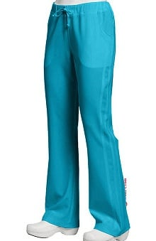 Clearance Marvella by White Cross Women's Flare Yoga Drawstring Solid Scrub Pant