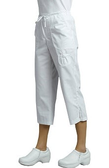 White Cross Women's Capri Scrub Pant