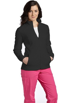 pink ribbon scrubs: White Cross Women's French Terry Zippered Jacket