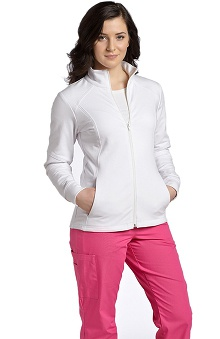 White Cross Women's French Terry Zippered Scrub Jacket