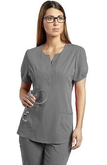 Clearance Marvella by White Cross Women's Patch Pocket Solid Scrub Top